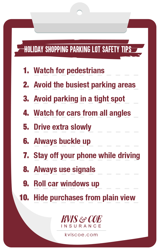 Top 10 Holiday Shopping Parking Lot Safety Tips Checklist