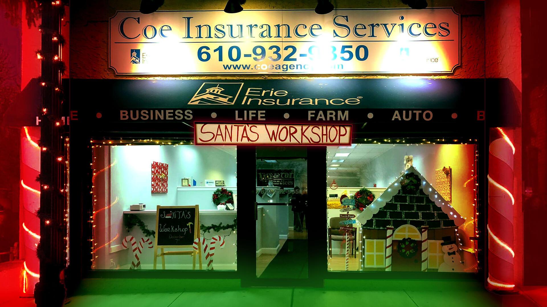 Santa's Workshop & Toy Drive Oxford, PA | KVIS & Coe Insurance