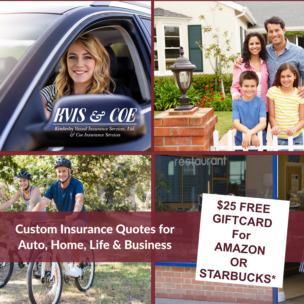 gift card for a free insurance quote