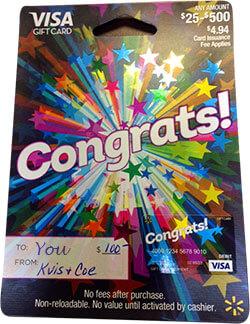 Referral Rewards Gift Card - KVIS & Coe Insurance Agency
